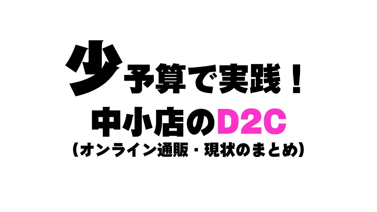 少予算で実践!中小店のD2C(オンライン通販・現状のまとめ)
